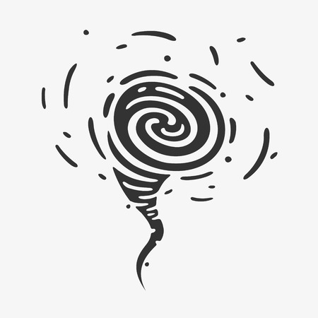 Vector Illustration The Wind Symbols Hurricane eps 8 file format