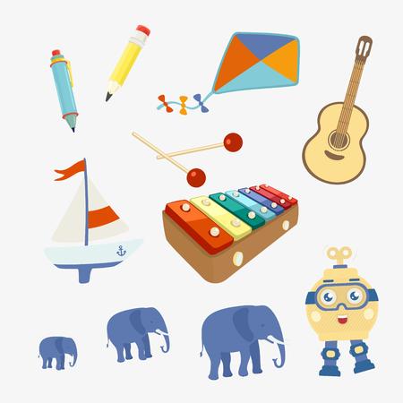 Vector Illustration Set of Symbols Toy eps 8 file format