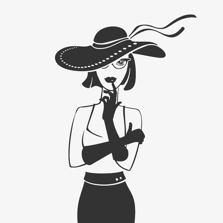 Vector Illustration  in Hat Silhouette file format Banco de Imagens