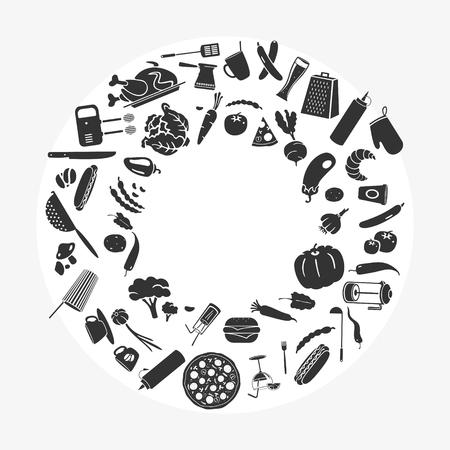 Vector Illustration Group Of Kitchen Theme Elements