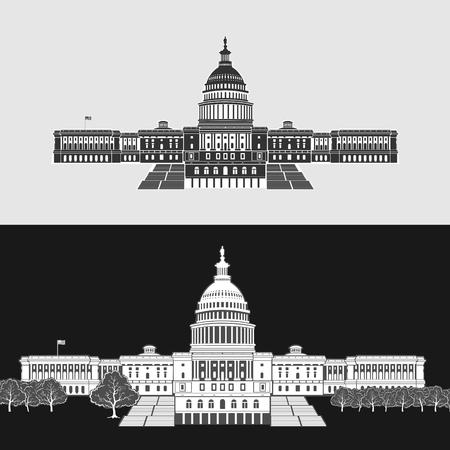 Vector Illustration of Washington Capitol Symbol eps 8 file format