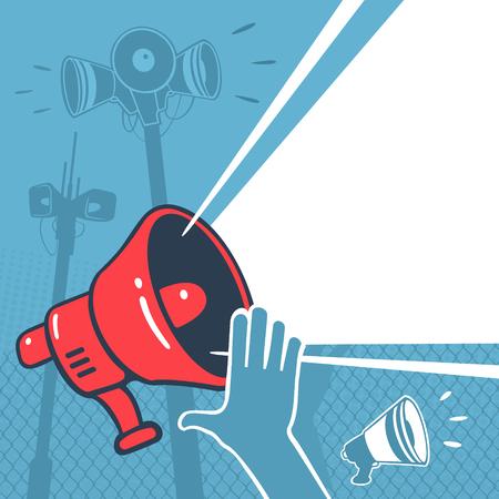 Vector Illustration Megaphone Element Propaganda  file format Banco de Imagens