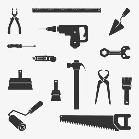 Work Tool Character Set Vector Illustration eps 8 file format
