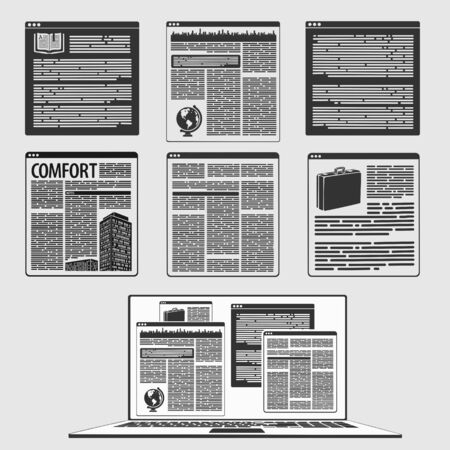 Illustration Vector of Internet Page and Computer Concept