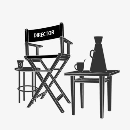 The Director Workplace Illustration Vector eps 8 file format