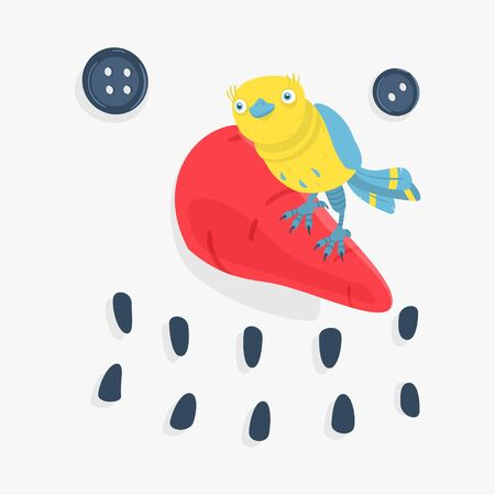 Vector Illustration Bird and Snowman eps 8 file format