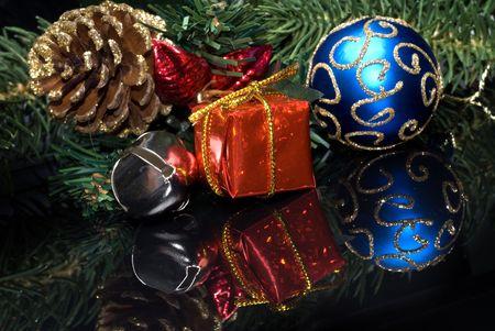 Christmas tree setting depicting the holiday spirit photo