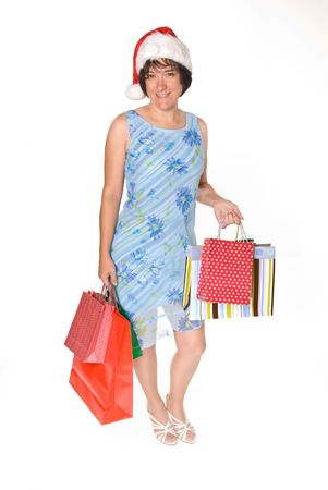 Female executive shosw off her shopping power
