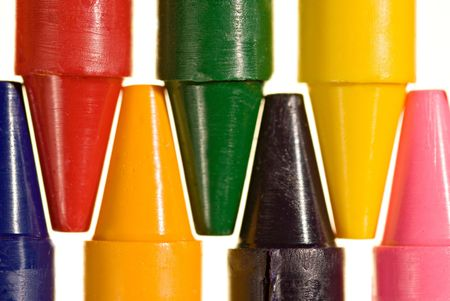 Crayons provide a rainbow of coloring opportunity for children photo