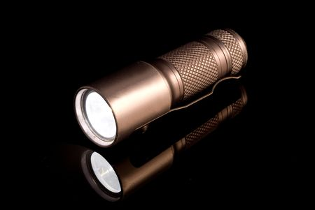 Small yet powerful pocked LED rechargeable, waterproof flashlight Banco de Imagens - 1951751
