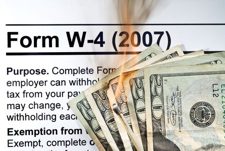 With high and ever increasing taxes, it is like burning your hard earned income with each year you file.