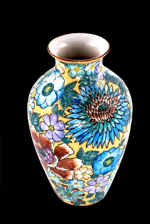 Beautiful floral vase with sunny theme and vibrant colors photo