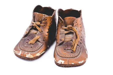 bronzed: Very old pair of bronzed  shoes from 1938