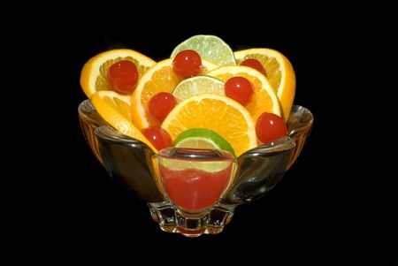 advocates: A dish of oranges, limes and cherries waits for health advocates to consume them.  The fragrance reminds one of being in a field of citrus trees during springtime.
