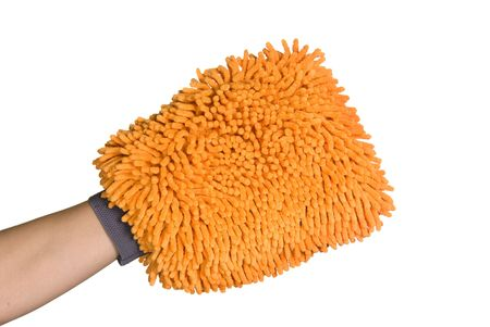 A wash mitt ready to take on tough cleaning jobs photo