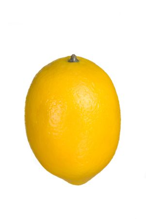 A lemon isolated on a white background