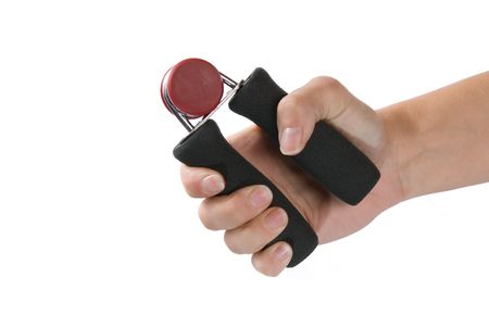 A hand grip exercise unit isolated on a white background