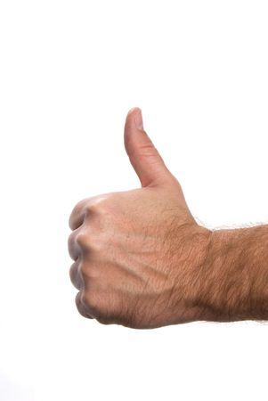 Symbol of acceptance and approval shown by a hand gesture
