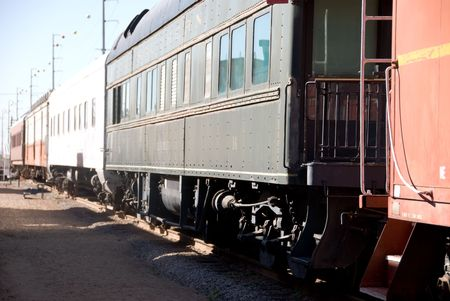 Vintage train waits for passengers to board. Stock Photo - 3139668