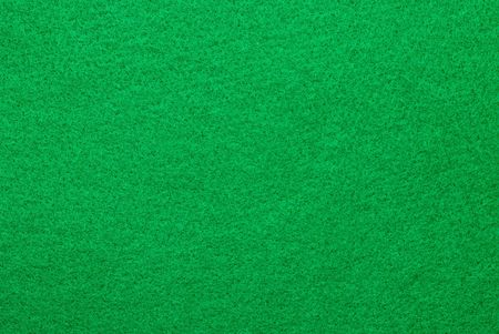 dealt: A green felt surface of a gambling table awaits the cards of the game to be dealt