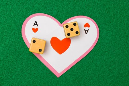 dealt: A Valentines Day gamble on love rolls a lucky seven.