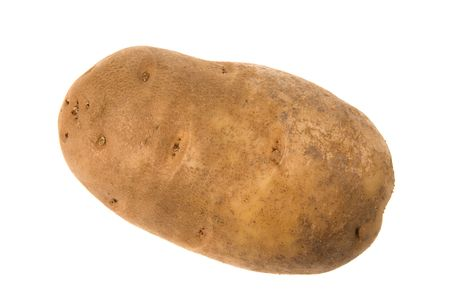 inference: Unpeeled potatoe isolated on white for use in any kind of promotional inference.