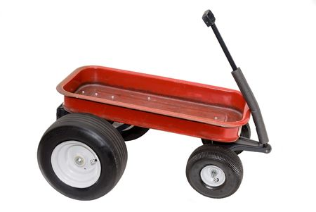 mag: A souped up red wagon isolated on white