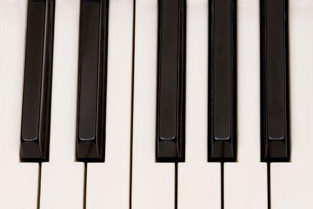 音楽的推論として使用するため美しいピアノのキー。 写真素材