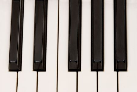 inferences: Beautiful piano keys for use as musical inferences. Stock Photo