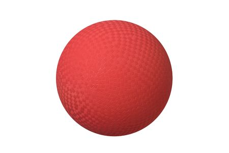 crosshatch: A classic dodgeball isolated on white shows the crosshatch patterns used for grips. Stock Photo