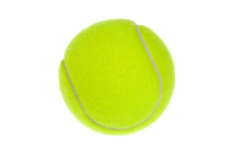 A new tennis ball isolated against a white background Stock Photo - 3820057