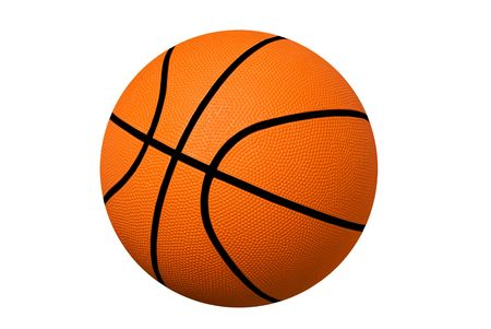 A new basketball isolated on white. Stock Photo