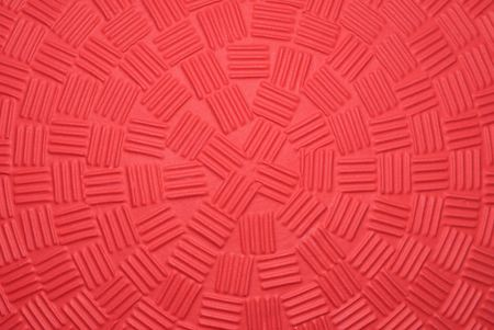 A close up of a new dodgeball shows the unique gripping patterns engineered into the balls design.