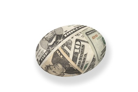 inference: A young money nest egg isolated on white.  Good for any financial maturity and retirement inference. Stock Photo