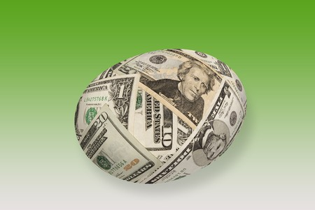 maturity: A young money nest egg isolated on white.  Good for any financial maturity and retirement inference. Stock Photo