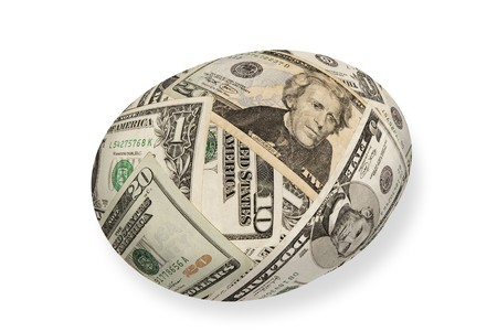 A young money nest egg isolated on white.  Good for any financial maturity and retirement inference. Stock Photo - 4369413