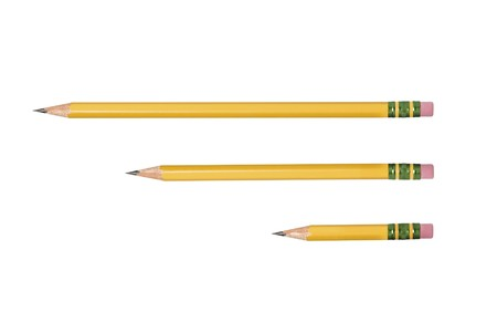 inference: An isolated unused, freshly sharpened pencil for use in any school or writing inference.  Stock Photo