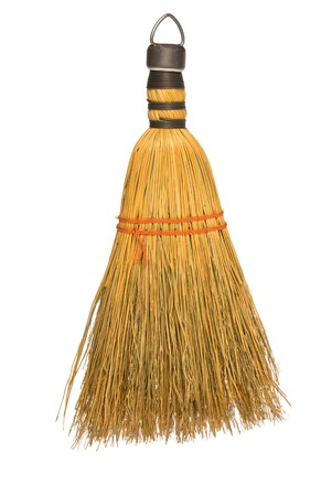 inferences: A wisk broom isolated against a white background.  Can be used for any cleaning inferences.