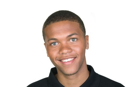 A young African American man smiles for the camera. Stock Photo - 4864093
