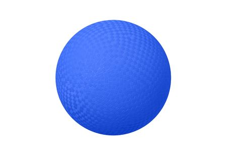 dodge: A classic dodgeball isolated on white shows the crosshatch patterns used for grips. Stock Photo