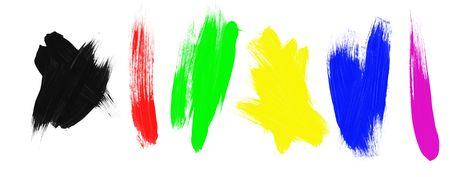 paints: An assortment of paint brush strokes.