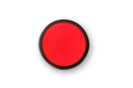 panic button: Una fermata rossa e il pulsante di panico.  Facile mettere la copia del pulsante. Archivio Fotografico