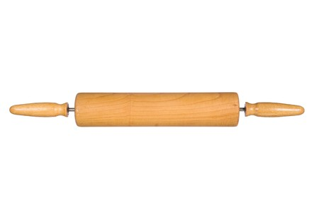 A rolling pin isolated on a white background