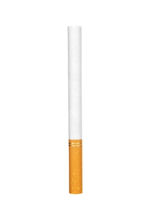 unhygienic: Cigarette isolated on white Stock Photo