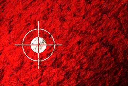trajectoire: Une image conceptuelle de la surface de Mars tout en regardant � travers un champ de la trajectoire d'atterrissage.