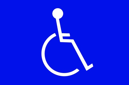 inference: A handicapped sign for use in any disabled person inference.