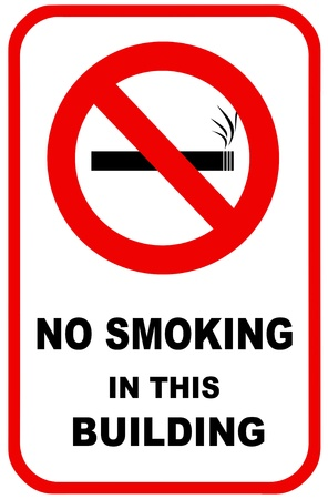 No smoking sign for facility control.  For use in any smoking inference or health care. photo
