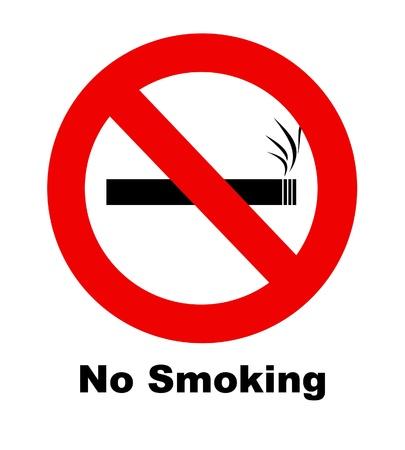 prohibido fumar: Una señal de no fumar para su uso en cualquier inferencia de fumar. Foto de archivo
