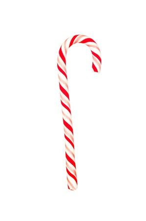 A Christmas candy cane geïsoleerd op een witte achtergrond Stockfoto - 12460959