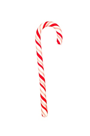 candy cane: A Christmas candy cane isolated on a white background